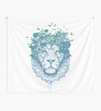 Floral lion Wall Tapestry