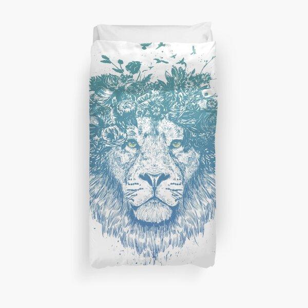 Floral lion Duvet Cover