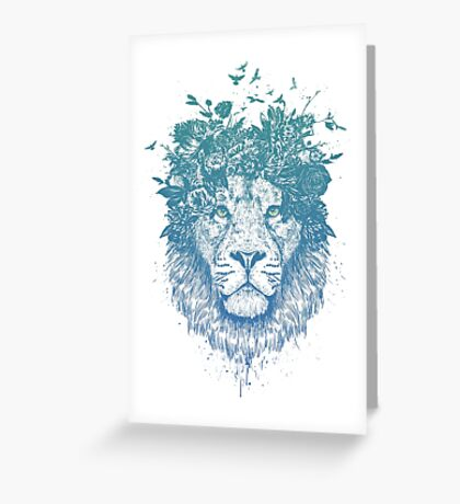 Floral lion Greeting Card