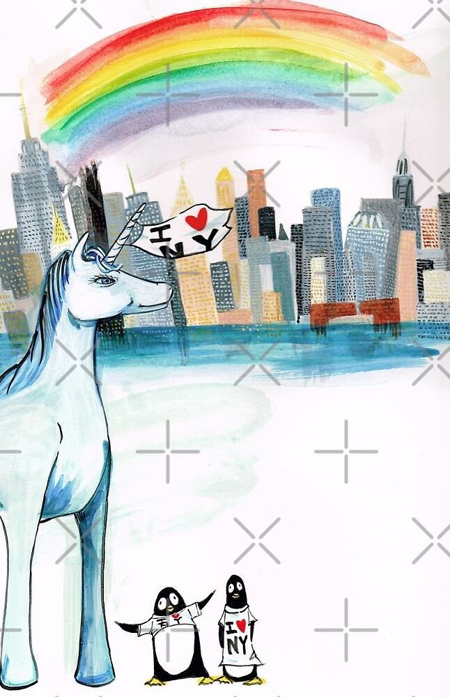 Unicorn and Penguins go to NYC by Jean Rim