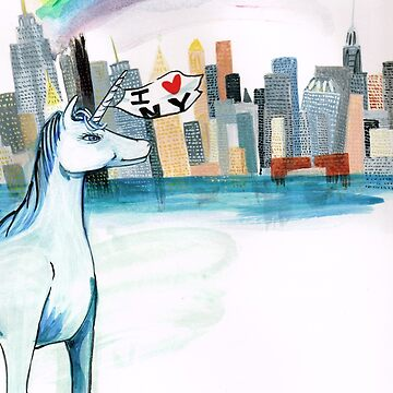 Unicorn and Penguins go to NYC by JeanRim
