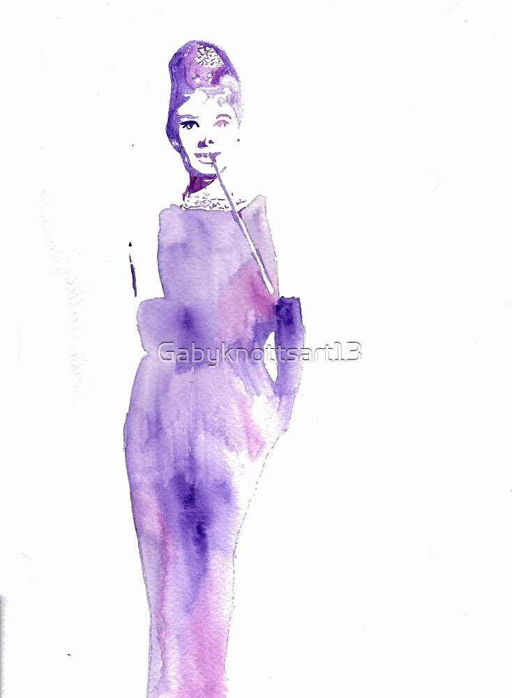 Watercolour Audrey Hepburn by Gabyknottsart13
