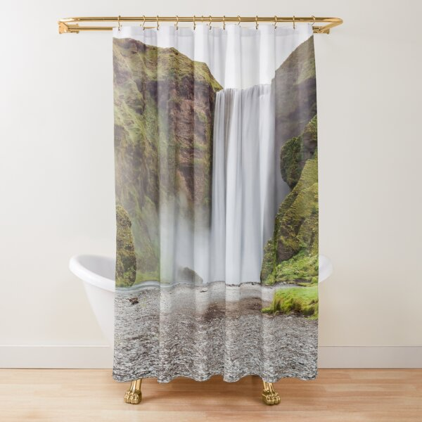 Skogafoss waterfall Shower Curtain