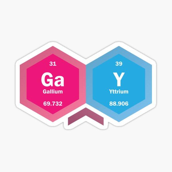 Ga Y [periodic table] Sticker