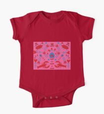 lobster and bug flower pattern One Piece - Short Sleeve
