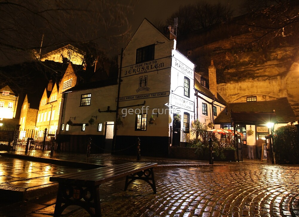 """""""The Old Trip To Jerusalem"""" Oldest Inn in Uk Opened in 1189. Nottingham UK by geoff curtis"""