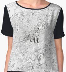 grey scale fox Chiffon Top