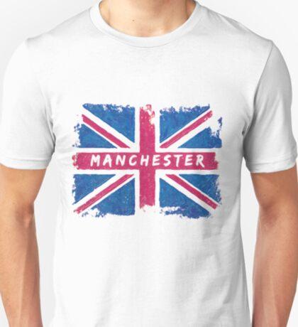 Manchester Vintage Union Jack British Flag T-Shirt