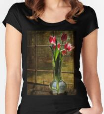 Still Life with Tulips Women's Fitted Scoop T-Shirt