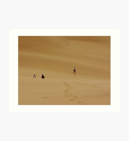 Dunes Walk Art Print