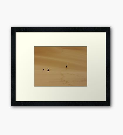 Dunes Walk Framed Print