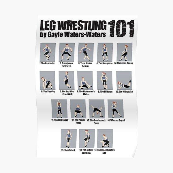 Steps to Leg Wrestling Success Poster