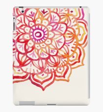 Watercolor Medallion in Sunset Colors iPad Case/Skin