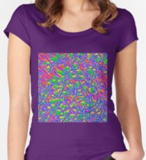 Abstract flowers Women's Fitted Scoop T-Shirt