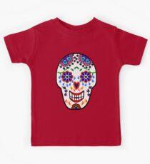 Sugar Skull Pattern (Black) Kids Tee