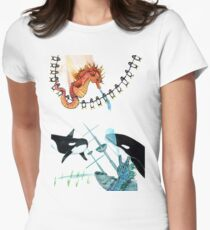 Sunken Ship Womens Fitted T-Shirt