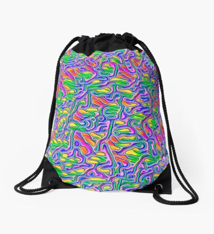 Abstract flowers Drawstring Bag