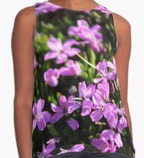 Purple Flowers Contrast Tank