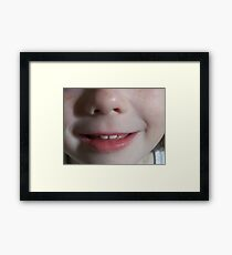 Mouth & Nose Framed Print