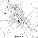 Hamilton Karte Grau von HubertRoguski