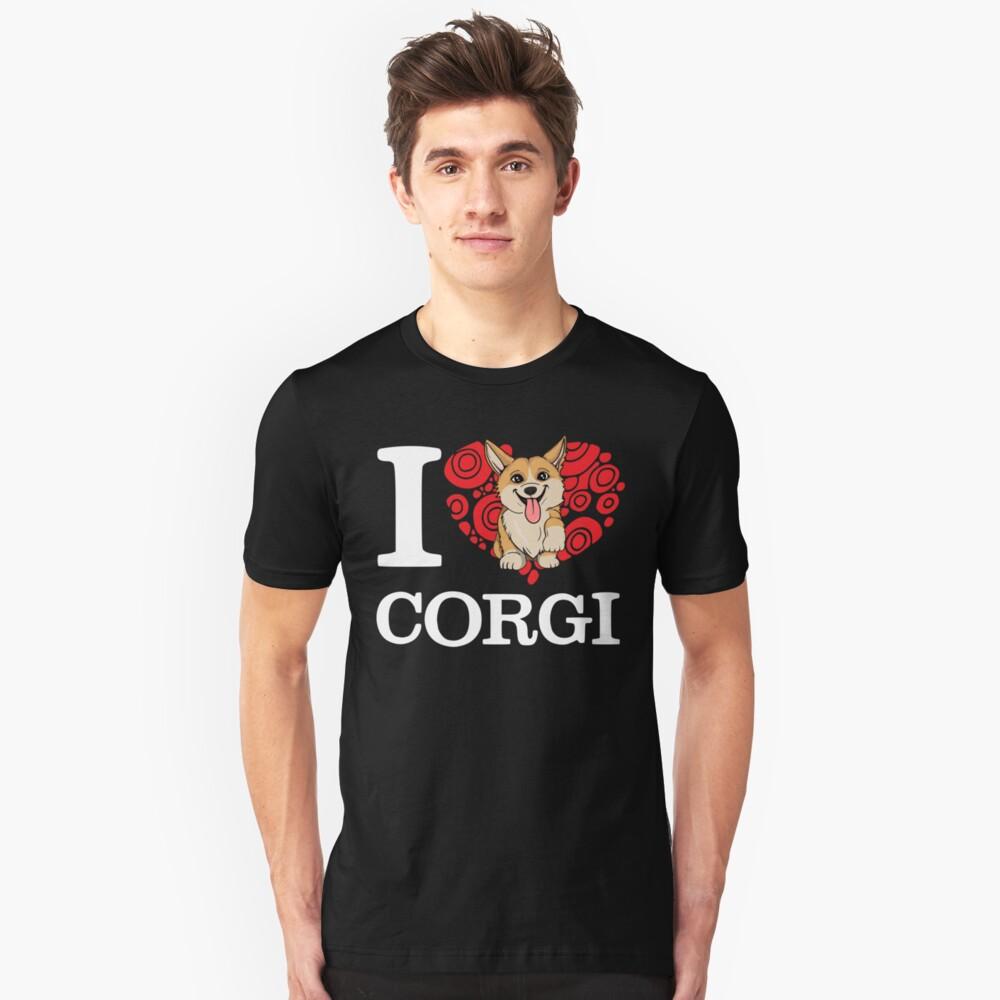 I Love Corgi T-shirt Unisex T-Shirt Front