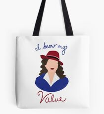 Agent Carter - I Know My Value Tote Bag