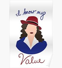 Agent Carter - I Know My Value Poster