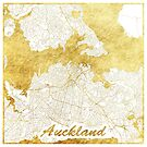 Auckland Map Gold by HubertRoguski