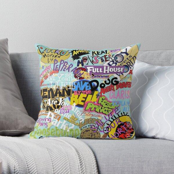Childhood Tv Throw Pillow
