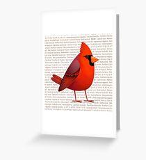 Maskierter Cardinalis Grußkarte
