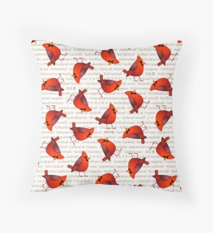 Masked Cardinalis Throw Pillow