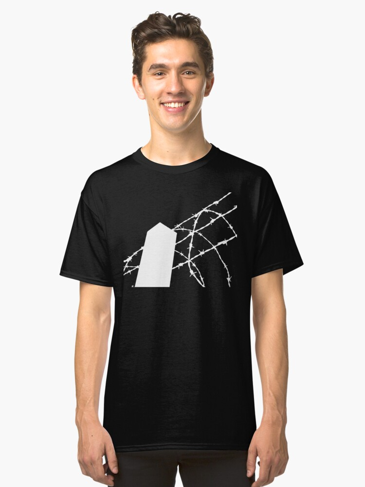 White Wire Fence Classic T-Shirt Front