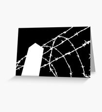 White Wire Fence Greeting Card