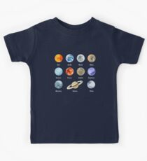 Planets of The Solar System Kids Tee