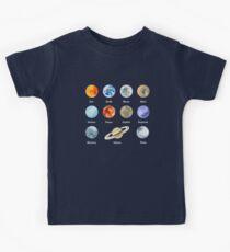 Planeten des Sonnensystems Kinder T-Shirt