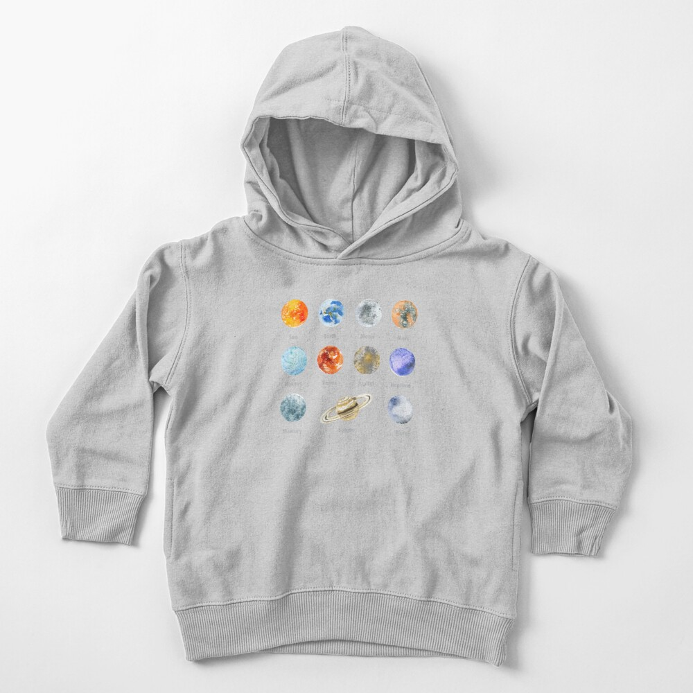 Planets of The Solar System Toddler Pullover Hoodie