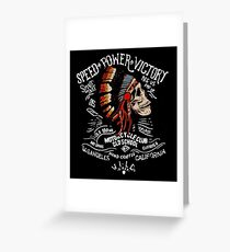 Indian Chief Skull for Motorcycle Bikers Greeting Card
