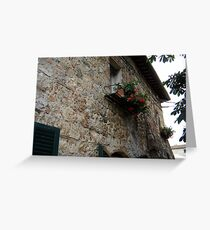 Glimpse of Tuscan balcony Greeting Card