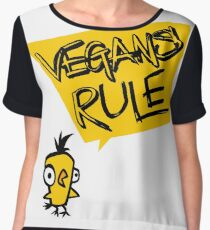 Vegans rule Chiffon Top