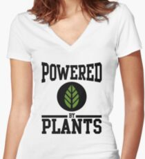 Powered by Plants Women's Fitted V-Neck T-Shirt