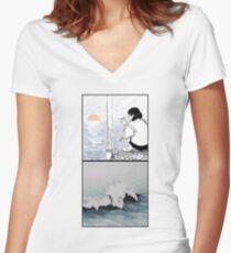 Harbor Solitude Women's Fitted V-Neck T-Shirt