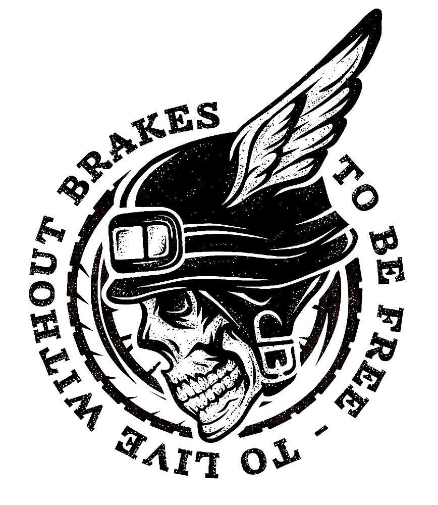 Human Skull in Helmet with Wings Black Illustration by AmorOmniaVincit