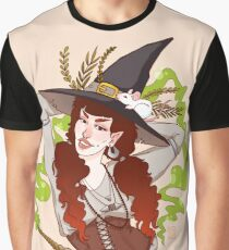 the witch with her mouse Graphic T-Shirt
