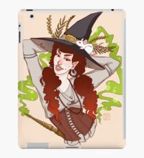 the witch with her mouse iPad Case/Skin