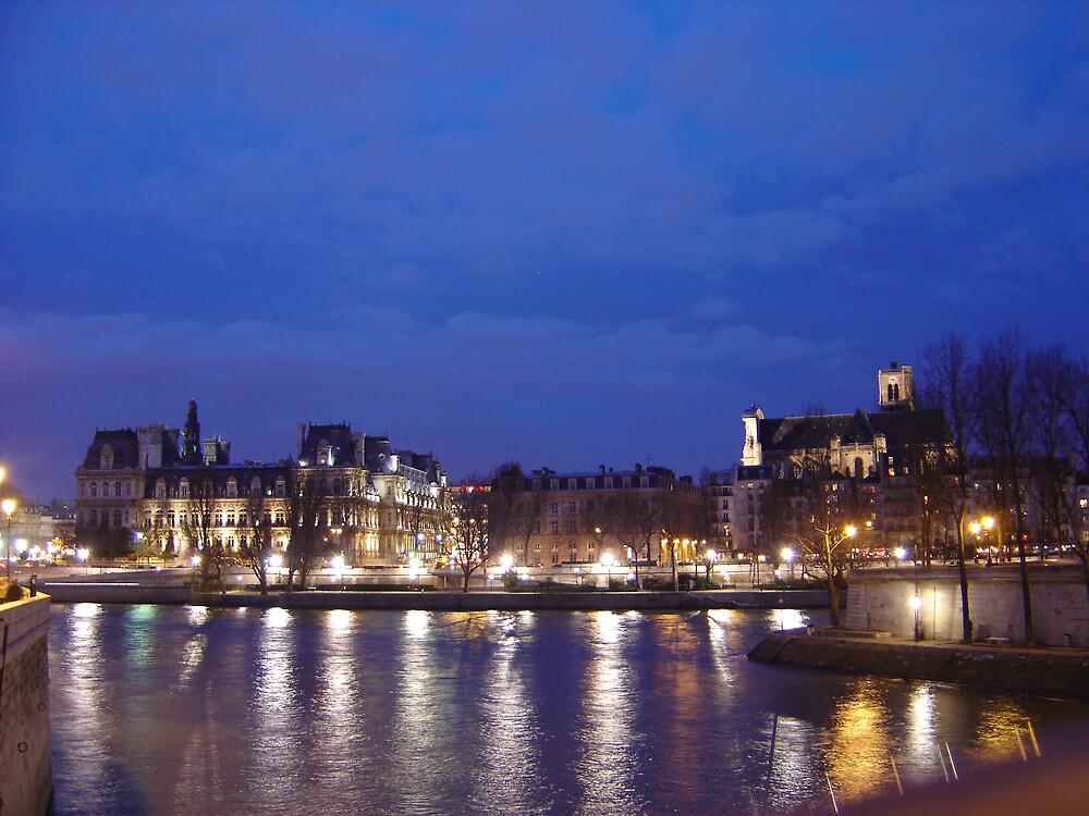 Sunset in Paris 3 by Luca Carangelo