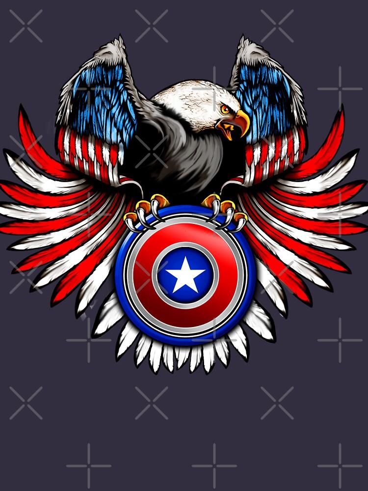 Captain Eagle Shield by GarnetLeslie