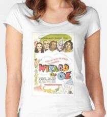 Wizard of Oz Movie Poster Women's Fitted Scoop T-Shirt