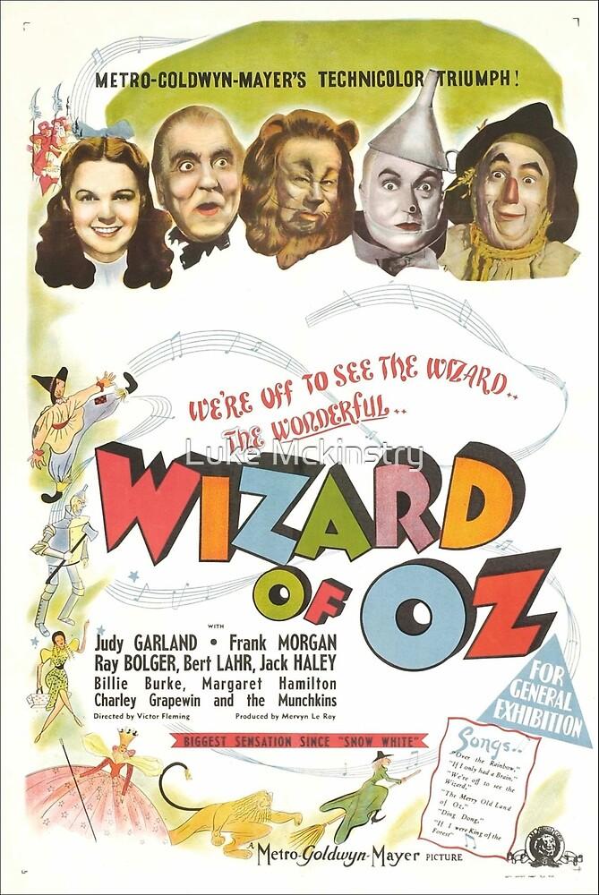 Wizard of Oz Movie Poster by Luke Mckinstry