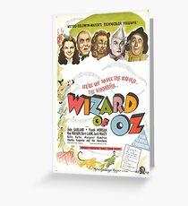 Zauberer von Oz Movie Poster Grußkarte