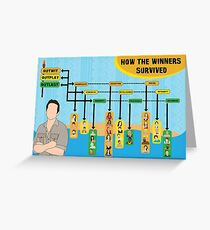 Survivor Winners Infographic Greeting Card